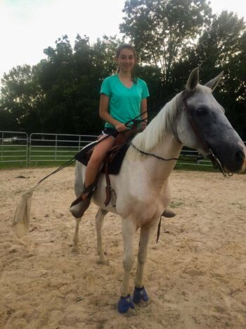 Brooke on her horse Dove