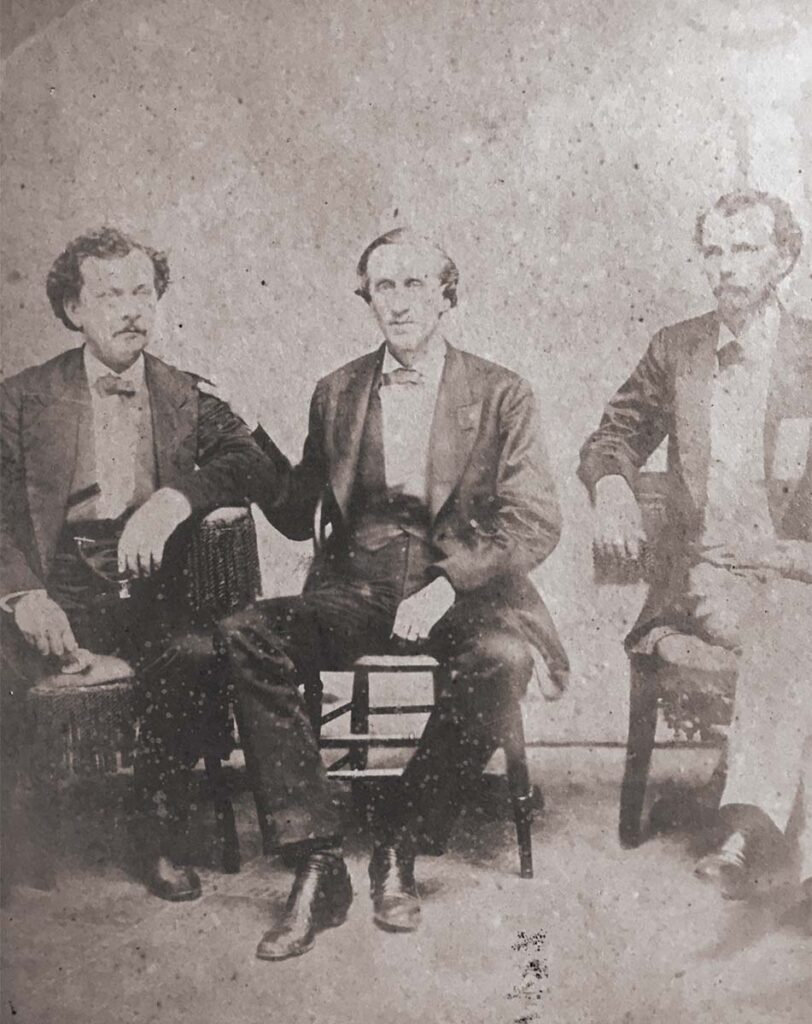 James Rice Slatter (center) with sons William (left) and David (right)