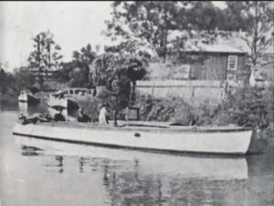 R.R. Jr.'s Motor boat the Brer Rabbit about 1910