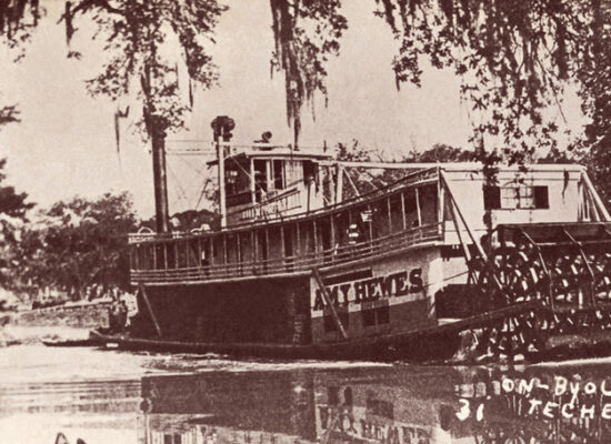 Steamboat Amy Hewes in the Teche Canal