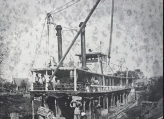 Steamboat Houma in the Company Canal about 1915